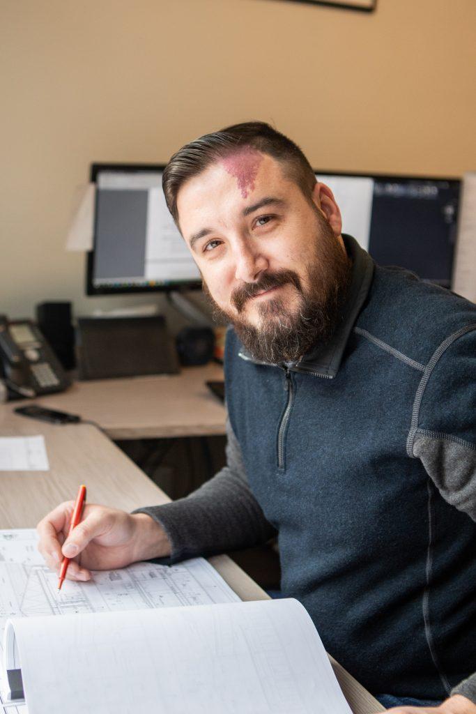 Matt Avard Working At The Office